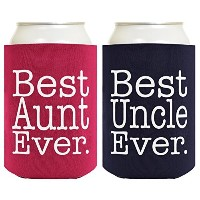 Best Aunt and Uncle EverギフトセットマルチパックCan Cooliesドリンククーラー A-B-C0015-01-JIT01-02-MgtNv