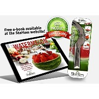 StaHom Watermelon Slicer Tongs for Cutting Watermelons by StaHom Stainless Steel Melon Corer Cuts,...