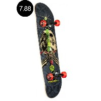 【POWELL PERALTA パウエル・ペラルタ】7.88in x 31.67in SKULL AND SWORD GREY/BLACK ONE OFF COMPLETEコンプリートデッキ...