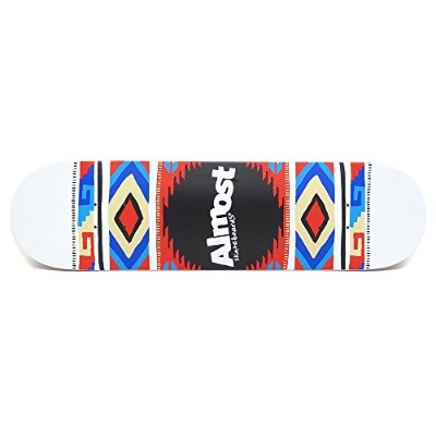 ALMOST DECK オールモスト デッキ TEAM AZTEK BLANKET WHITE 8.0