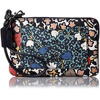 (コーチ) COACH Small レディース リストレット 財布 小銭入れ Ladies Wristlet Purse in Mixed Yankee Floral Print Canvas ...