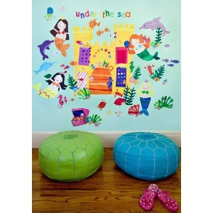 Oopsy Daisy Mermaids Peel and Place Wall Art, 54 by 45 by Oopsy Daisy