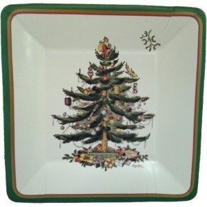 Spode Christmas Tree Square Luncheon Plaes by CR. Gibson