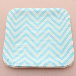 "100 %生分解性Swirly Twirly Paper Plates Square 7""-12pc"