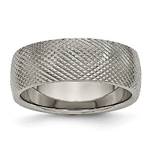 Chiselチタン8mm Textured Band