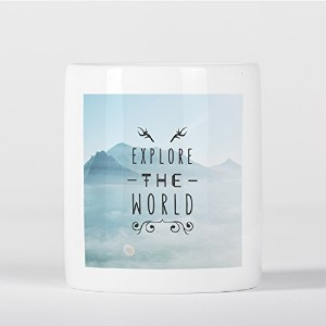 Explore the World Hipster Deer Antlers Travel Inspiration Mountains Wanderlust 貯金箱