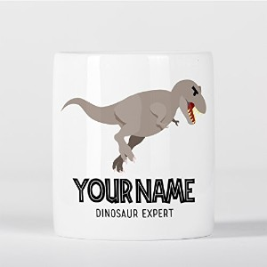 Customized T-Rex Dinosaur Expert Grey Children Kids Personalised 貯金箱