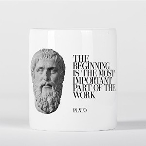 The Beginning is the Most Important Plato Quote Ancient Greek Philosopher 貯金箱