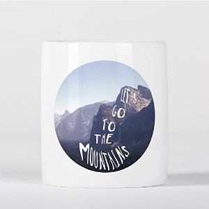 Let's Go to the Mountains Wanderlust Motivational Hiking Inspirational 貯金箱