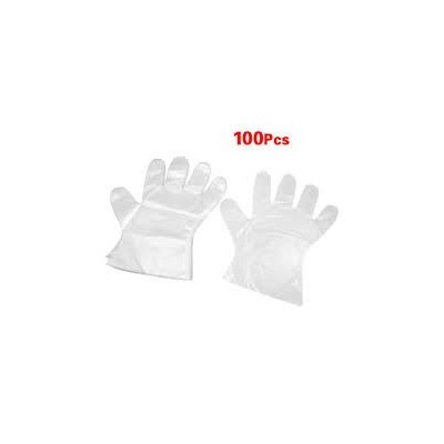 100pcs Eco-friendly Plastic Disposable Gloves for Cooking, Cleaning, Kitchen Food Handling