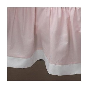 Pretty Pique Porta Crib Dust Ruffle Color: Pink by Baby Doll