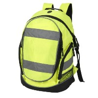 High visibility rucksack / backpack Yellow by Shugon
