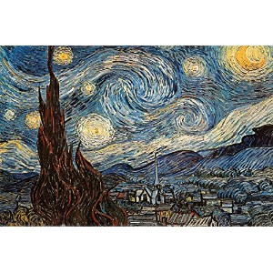 "Starry Night by Vincent Van Gogh 36 "" x24 ""アートプリントポスター"