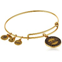 "Alex and Ani "" Sorority "" Kappa Alpha Theta Expandable Rafaelianバングルブレスレット、2.4 "" One Size"