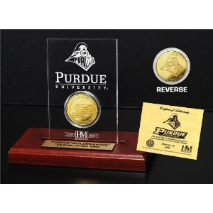 """NCAA Purdue Boilermakers Etchedアクリルコイン、9"""" x 7"""" x 2cm、ゴールド"""