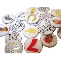 25 Assorted Good Luck Geotokens Geocoins Lucky