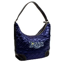 Little Earth 52306-rays-navy MLB Tampa Bay Rays Quilted Hobo