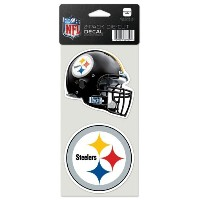 """NFL Pittsburgh Steelers Perfect Cut Decal ( Set of 2)、4"""" x 4"""""""