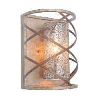 Woodbridge Lighting 12641VIN-M10MIR Braid 1-Light Wall Sconce, Vintage Graphite by Woodbridge...