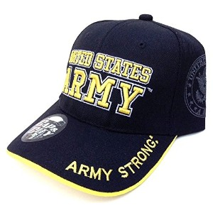 US Army Strong Licensed Seal Militaryブラック帽子キャップ