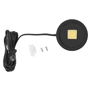 Tresco Lighting L-POC-3LEDSCL-WBL 3W Power Pockit High Output Dimmable Puck Light with Surface...