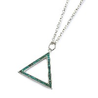 Garden of Eden(ガーデン オブ エデン)Outlined Turquoise Triangle Necklace Large [ED-TS16-NK04] アウトラインド ターコイズ...