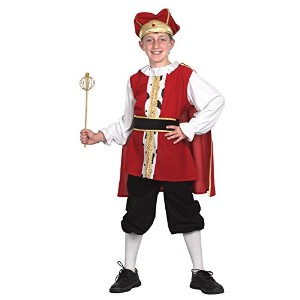 Medieval King (XL). Children's Costumes Male 158cm - Red