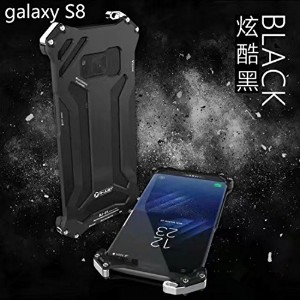 Galaxy Note8 Warrior ケース, Awesome Rugged Aviation Aluminum Metal Frame Bumper Thin Armor カバー,...