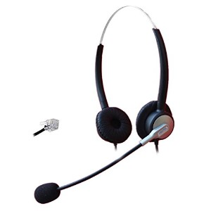Comdio Corded Call Center Telephone Headset Headphone with Mic for Avaya 1416 2420 5410 Aastra...