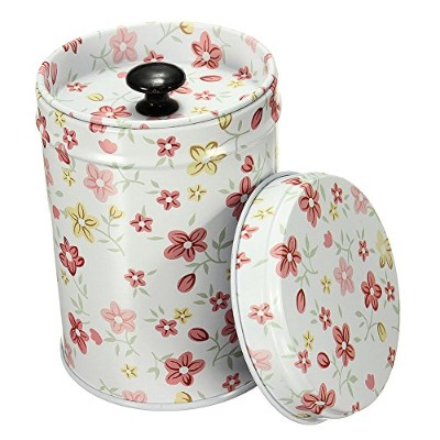 (Red Flower) - Mwfus Vintage Double Cover Tea Caddy Box Container Food Storage Tin Boxes Case...