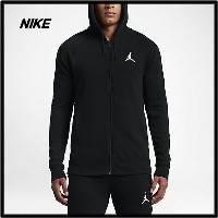 M 黒【NIKE AIR JORDAN FLIGHT LITE FULL-ZIP HOODIE (BLACK / WHITE) ナイキ ジョーダン Zipパーカー フーディー】822658-010