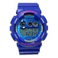 CASIO(カシオ) 腕時計 並行輸入品 Casio G-Shock Digital Dial Blue Resin Mens Watch GD120TS-2CR GD120TS