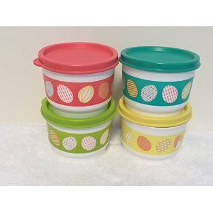 Tupperwareイースタースプリング4oz Snack Cupsセットof 4with Matching Seals