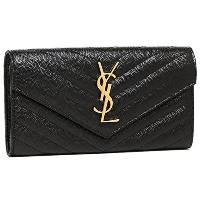 サンローランパリ 財布 レディース SAINT LAURENT PARIS 372264 BOW01 1000 MONOGRAMME SAINT LAURENT MATELLASSE 長財布...