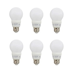 Sylvania a19 40 W 120 V e26非調光ホワイトFrosted LEDライト電球( 6パック)