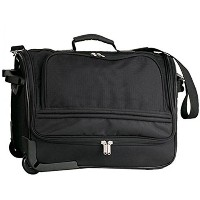 Travelwell The Runawayコンパクト週末Goodhope Rolling Duffleバッグ、ブラック