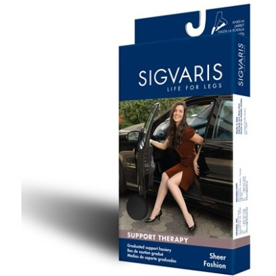 Women's Sheer Fashion 15-20 mmHg Pantyhose Size: B, Color: Natural 33 by Sigvaris