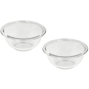 Pyrex Prepware 1-Quart Rimmed Mixing Bowl, Clear by Pyrex