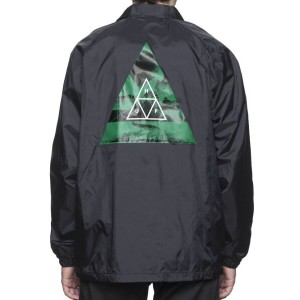HUF Dimensions Coaches Jacket Black L コーチジャケット