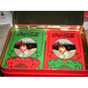 Coca Cola 2Decks of Playing Cards in Originalボックス–Never Unwrapped