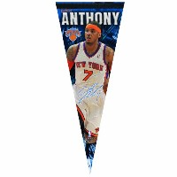 NBA New York Knicks Carmelo Anthony 12 by 30-inch Premium Qualityペナント
