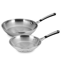 Simply Calphalon Stainless Steel 8 & 10 Omelette Pan Set by Calphalon