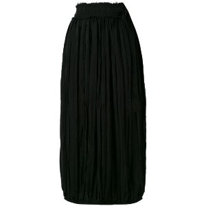 JW Anderson - gathered midi skirt - women - アセテート/シルク - 10