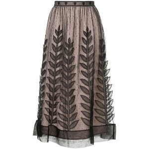 Red Valentino - tulle layer midi skirt - women - シルク - 38