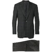 Canali - checkered suit - men - キュプロ/ウール - 52