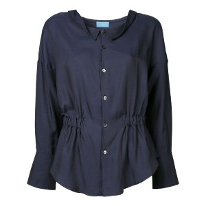 Undercover - gathered waist blouse - women - コットン/キュプロ - 1