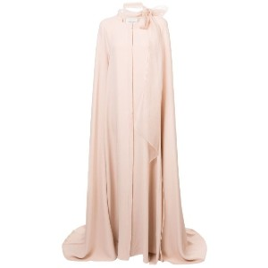 Carolina Herrera - pussy bow cape gown - women - シルク - 8