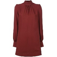 Marc Jacobs - roll-neck shirt dress - women - シルク/ビスコース - 4