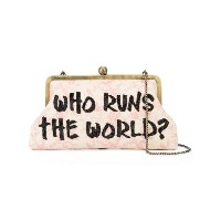 Sarah's Bag - Who Runs The World クラッチバッグ - women - Canvas - ワンサイズ