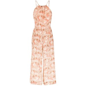 Andrea Marques - printed jumpsuit - women - シルク - 36